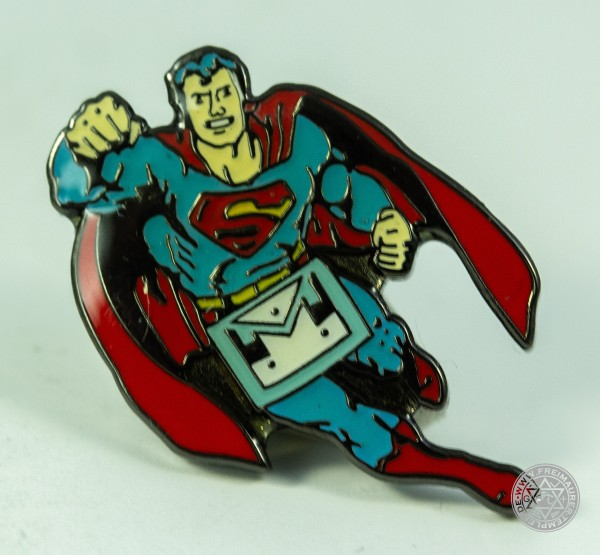 Pin Freimaurer Superman