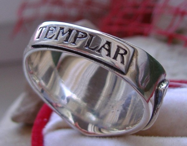 Silber Ring Tempelritter