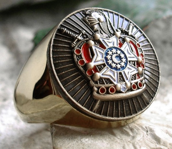DEMOLAY TEMPELRITTER Silber RING