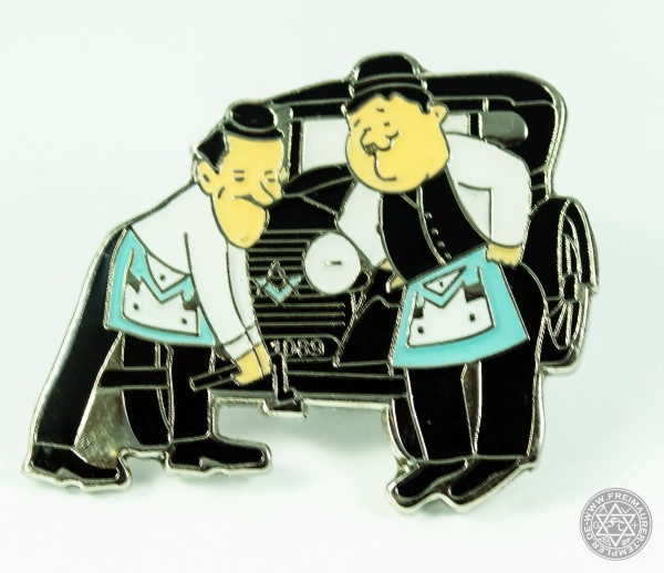 Pin Laurel and Hardy mit Auto