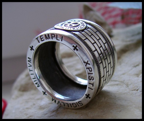 Tempelritter Ring Silber