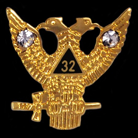 Masonic Pin, 24 ct vergoldet, RESTPOSTEN