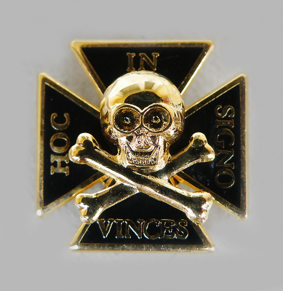 "Pin Templer/Kreuzritter ""IN HOC SIGNO VINCES"" 18 ct"